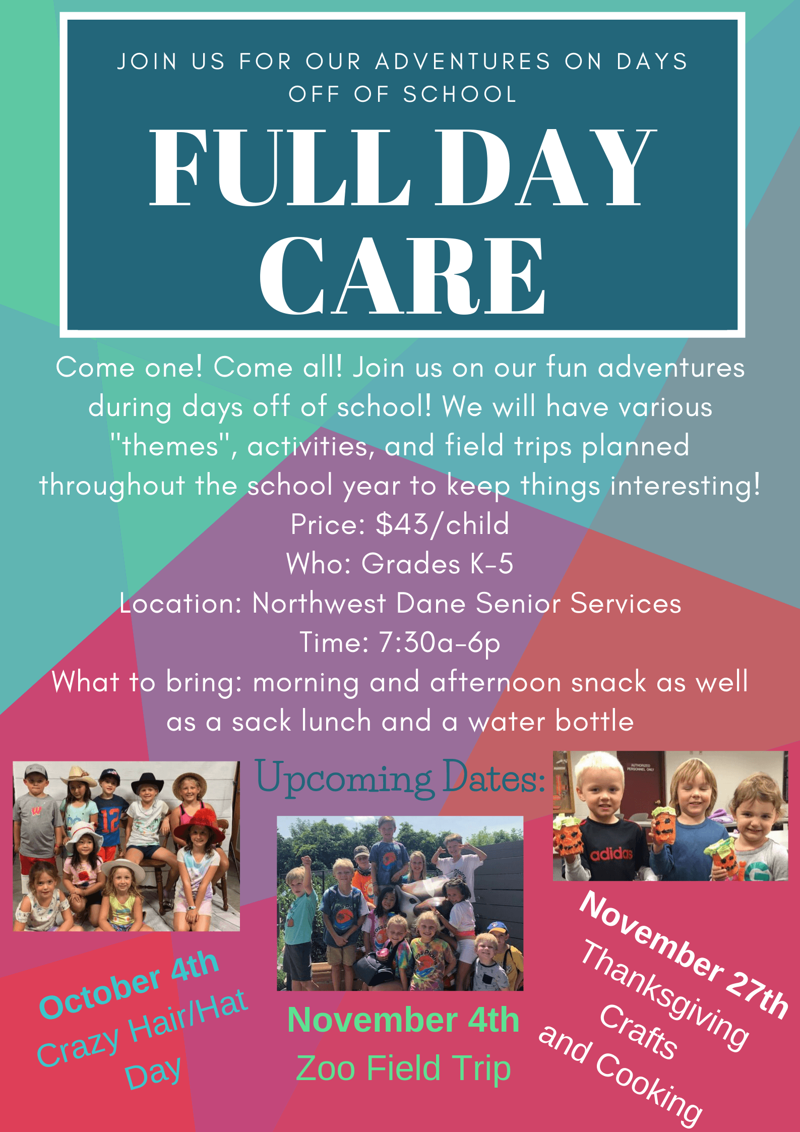Full Day Care Oct-Nov